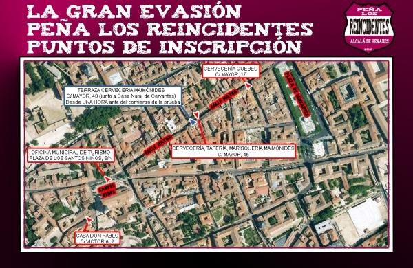 La Gran Evasión - Puntos de Inscripción